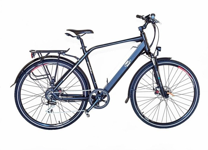 electric road bicycle GEOBIKE X-Road 2.0 A / battery 14.5 Ah (front suspension)