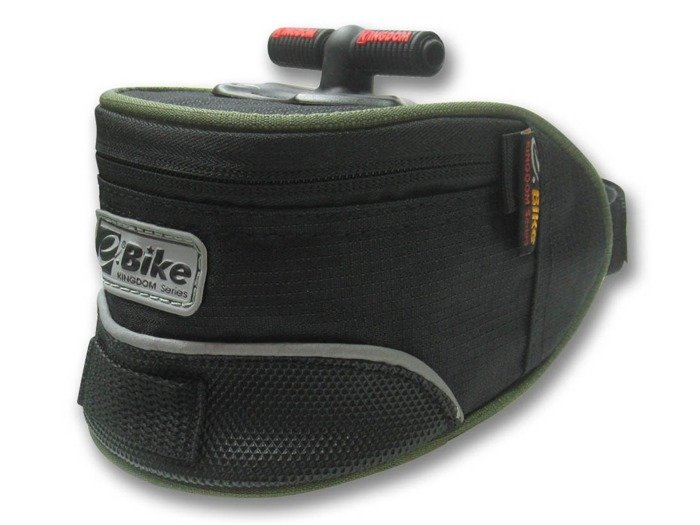 saddle bag E-BIKE / black and green