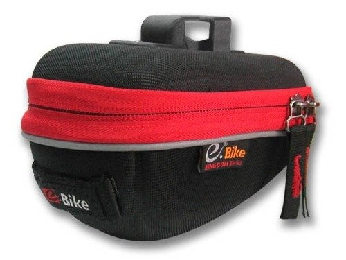 saddle bag E-Bike RACING  / black and red